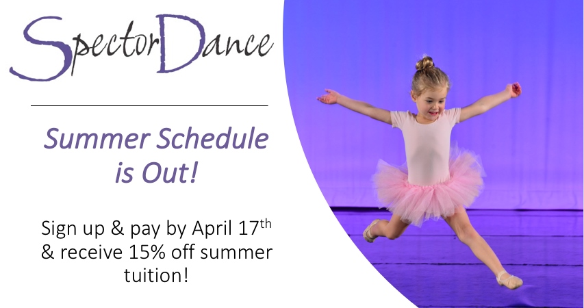 SpectorDance Summer Program is Out – Don't Miss the EARLY BIRD SPECIAL