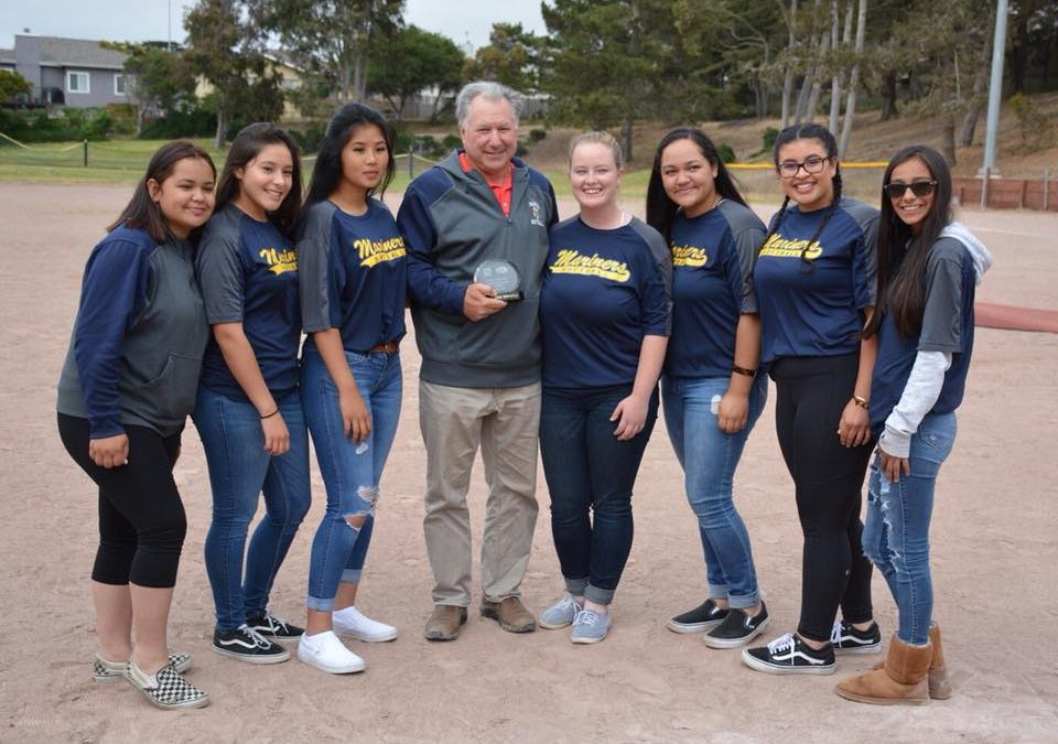 Marina High School Coach Mike Mast Honored with Golden Whistle Award