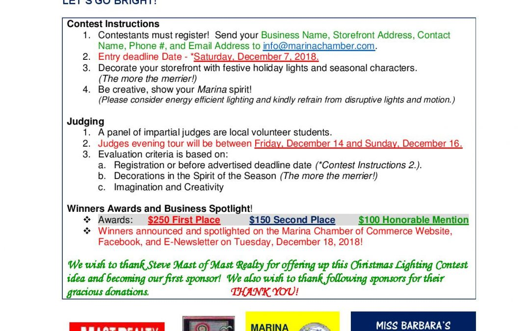 SMALL BUSINESS CHRISTMAS LIGHTING CONTEST