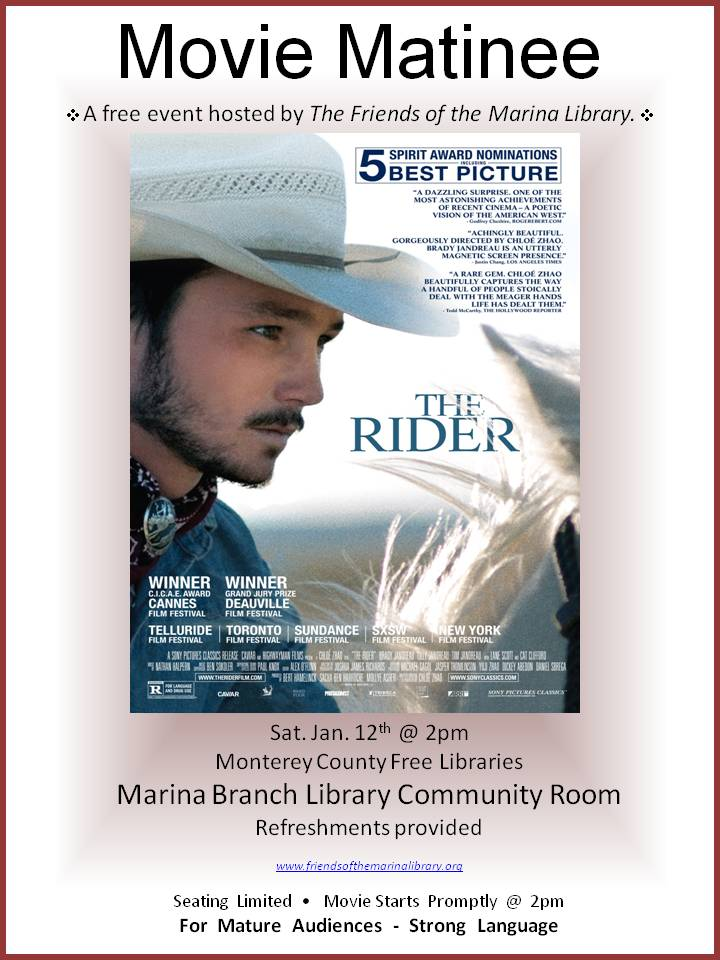Free Movie Matinee sponsored by Friends of the Marina Library