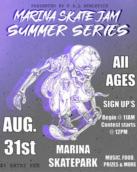 Marina Police Activities League Hosts Skate Jam Summer Series