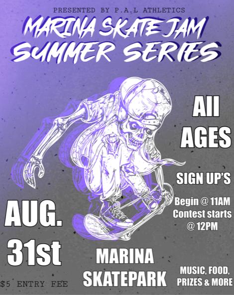 Marina Police Activities League Hosts Skate Jam Summer Series