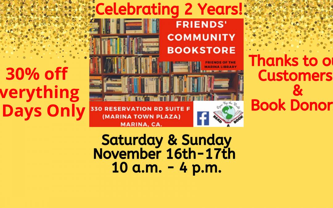 Friends' Community Bookstore Sale!